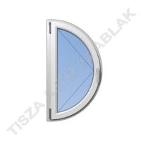 Műanyag ablak, fahér színben, félkör, nyíló kialakítással