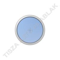 Műanyag ablak, fahér színben, kör, fix kialakítással