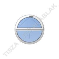 Műanyag ablak, fehér színben, kör, bukó kialakítással