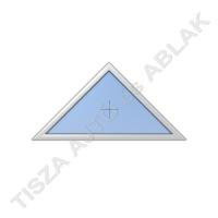 Műanyag ablak, fehér színben,  háromszög, fix kialakítással