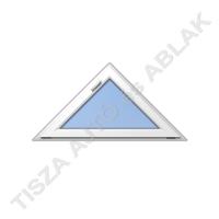 Műanyag ablak, fehér színben, háromszög, bukó kialakítással