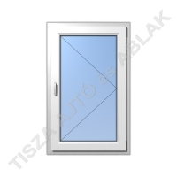 Műanyag ablak, fehér színben, nyíló kialakítással