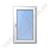 Műanyag ablak, fehér színben, bukó nyíló kialakítással