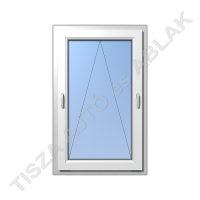 Műanyag ablak, fehér színben, kétkilincses bukó kialakítással