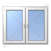 Műanyag ablak, fehér színben, tokosztós, nyíló+nyíló  kialakítással