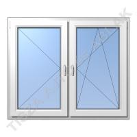 Műanyag ablak, fehér színben, tokosztós, nyíló+bukó nyíló kialakítással
