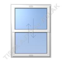 Műanyag ablak, fehér színben, toló- toló függőleges mozgású kialakítással