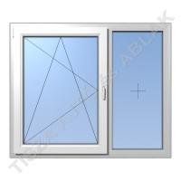 Műanyag ablak, fehér színben, bukó nyíló+ fix kialakítással