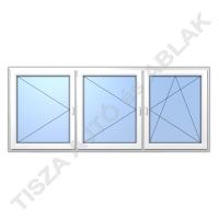 Műanyag ablak, fehér színben, nyíló, nyíló, bukó nyíló kialakítással