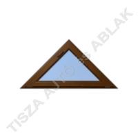 Műanyag ablak, mahagóni színben, háromszög, bukó kialakítással