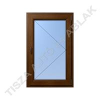Műanyag ablak, mahagóni színben, nyíló kialakítással