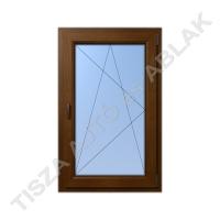 Műanyag ablak, mahagóni színben, bukó nyíló kialakítással