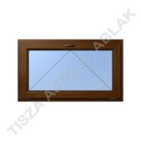 Műanyag ablak, mahagóni színben, bukó kialakítással