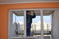 Műanyag ablak csere panel lakásban