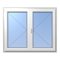 műanyag ablak Kétszárnyú váltószárnya