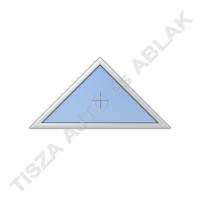 Háromszög fix műanyag ablak