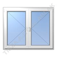 Váltószárnyas nyíló-nyíló műanyag ablak