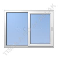 Toló-fix vízszintes mozgású műanyag ablak