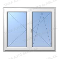 Műanyag ablak árak Decco váltószárnyas nyíló-nyíló bukó