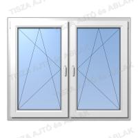 Műanyag ablak árak Decco tokosztós  nyíló bukó-nyíló bukó