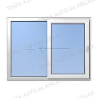 Műanyag ablak árak Certainteed vízszintes  fix-toló