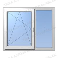 Műanyag ablak árak Decco bukó-nyíló fix sorolású