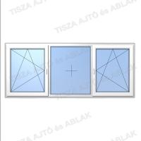 Műanyag ablak árak Decco bukónyíló-fix- bukónyíló