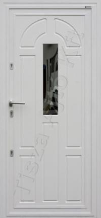 fehér acél bejárati ajtó üvegezve
