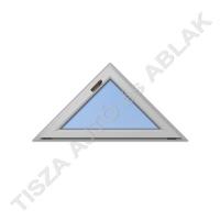 Műanyag nyílászárók, ahát szürke színben, háromszög, bukó kialakítással